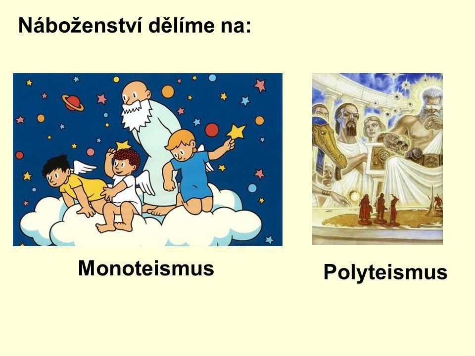 Náboženství dělíme na: