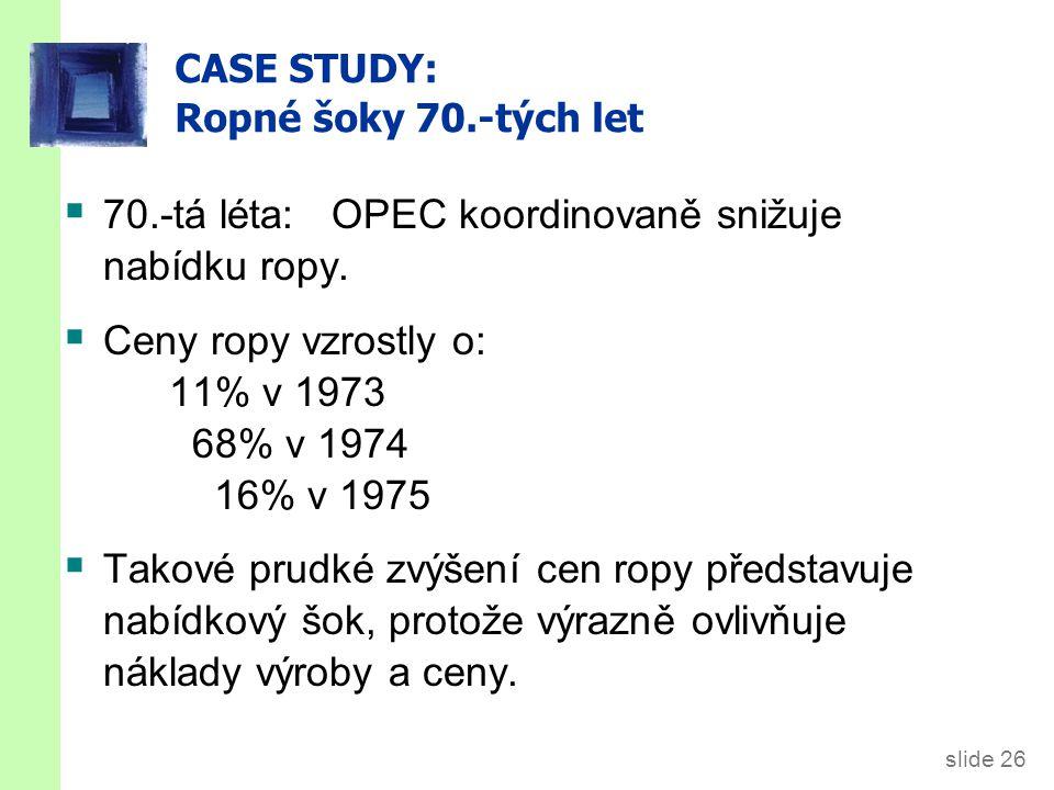 CASE STUDY: Ropné šoky 70.-tých let