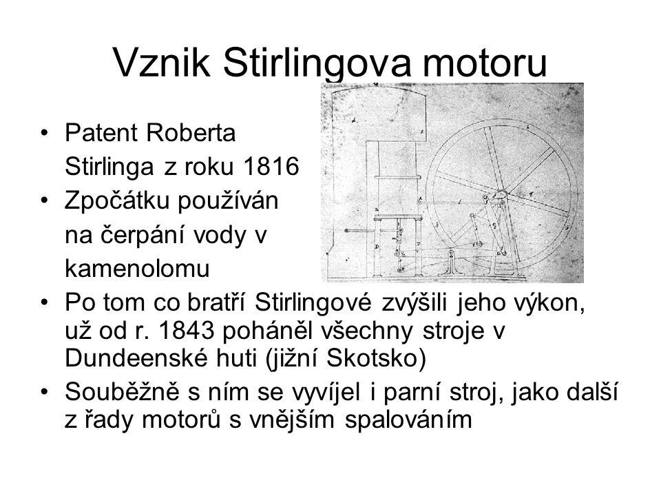 Vznik Stirlingova motoru