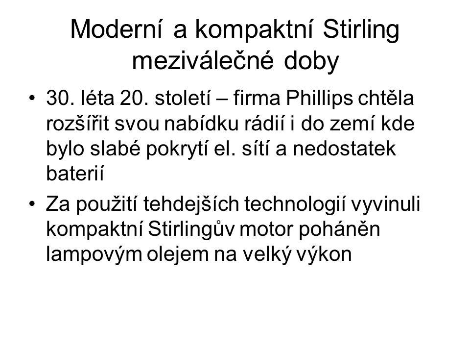 Moderní a kompaktní Stirling meziválečné doby