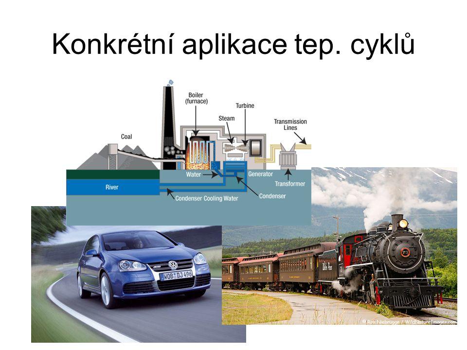 Konkrétní aplikace tep. cyklů