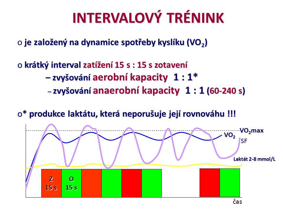 INTERVALOVÝ TRÉNINK je založený na dynamice spotřeby kyslíku (VO2)