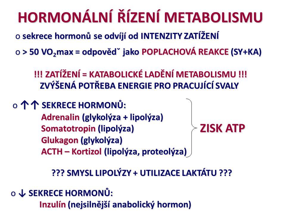 HORMONÁLNÍ ŘÍZENÍ METABOLISMU
