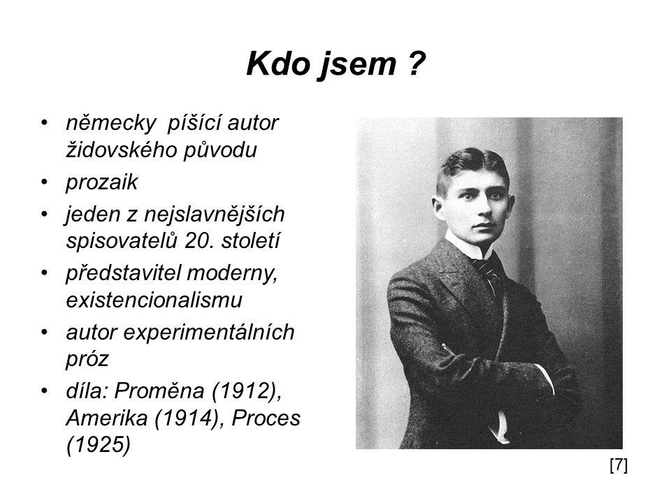 Kdo jsem německy píšící autor židovského původu prozaik