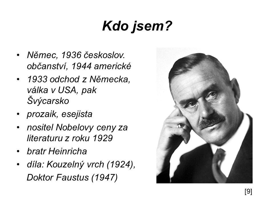 Kdo jsem Němec, 1936 českoslov. občanství, 1944 americké
