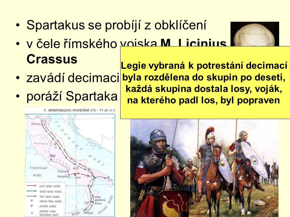Spartakus se probíjí z obklíčení