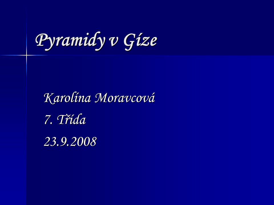 Karolína Moravcová 7. Třída 23.9.2008