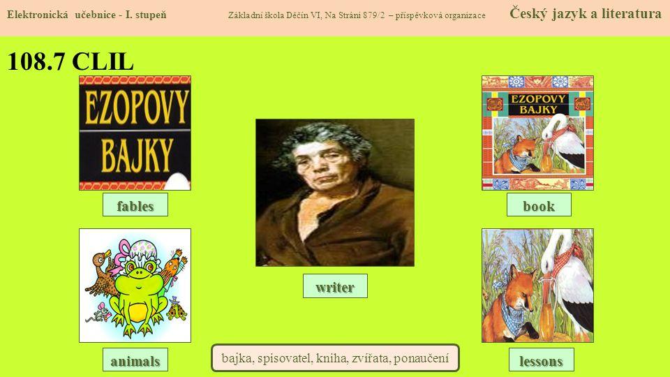 bajka, spisovatel, kniha, zvířata, ponaučení