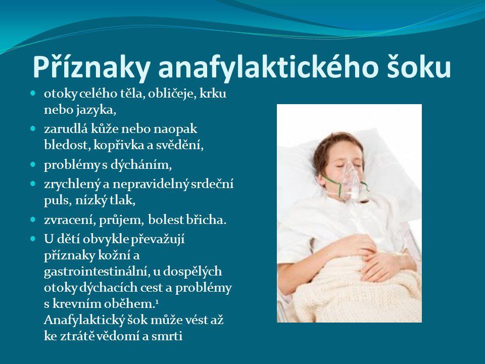 Příznaky anafylaktického šoku