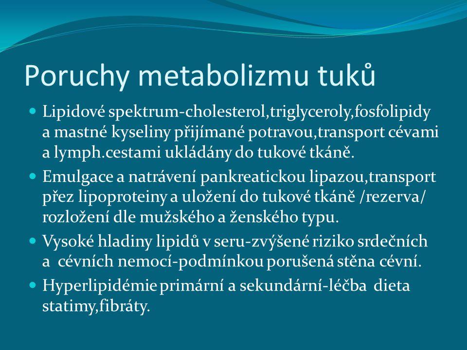 Poruchy metabolizmu tuků