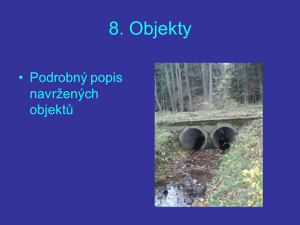 8. Objekty Podrobný popis navržených objektů