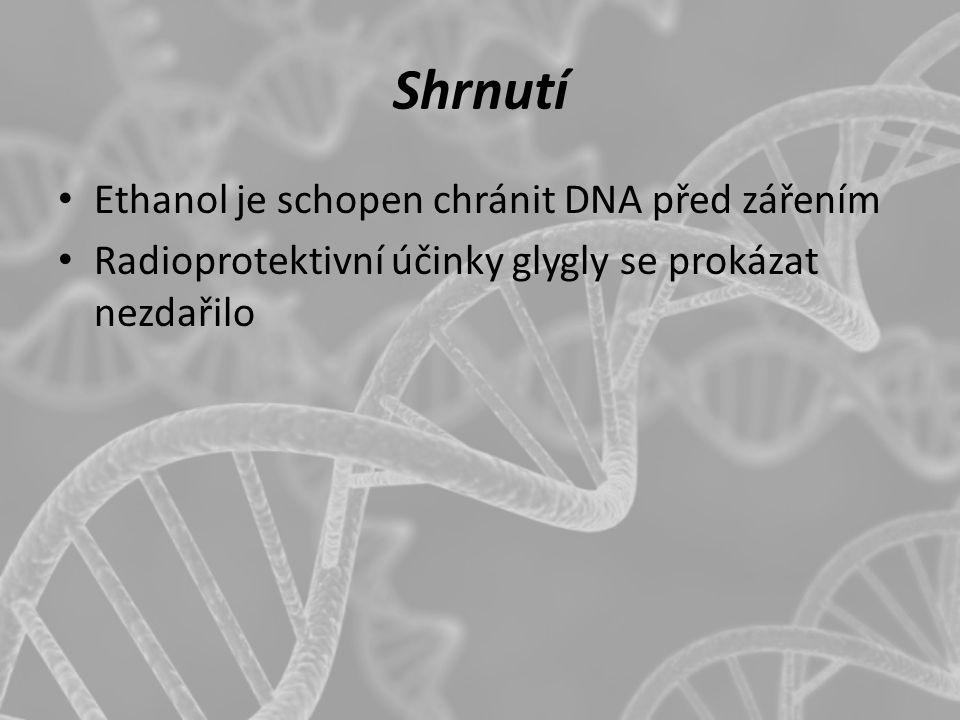 Shrnutí Ethanol je schopen chránit DNA před zářením