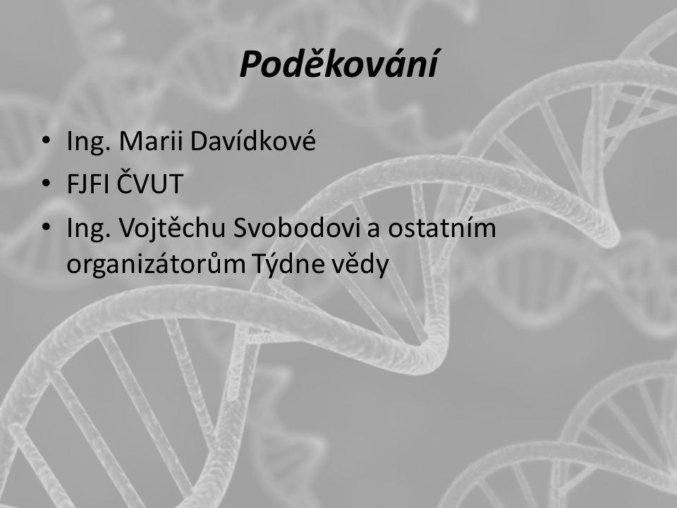 Poděkování Ing. Marii Davídkové FJFI ČVUT