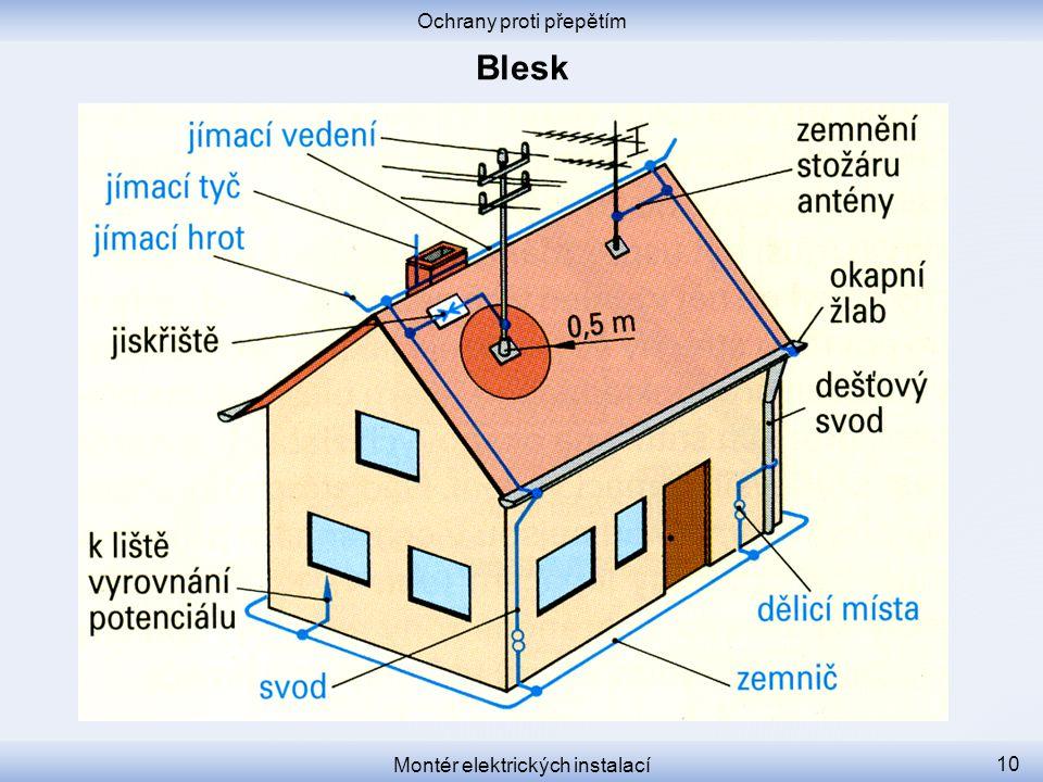 Blesk Ochrany proti přepětím Montér elektrických instalací