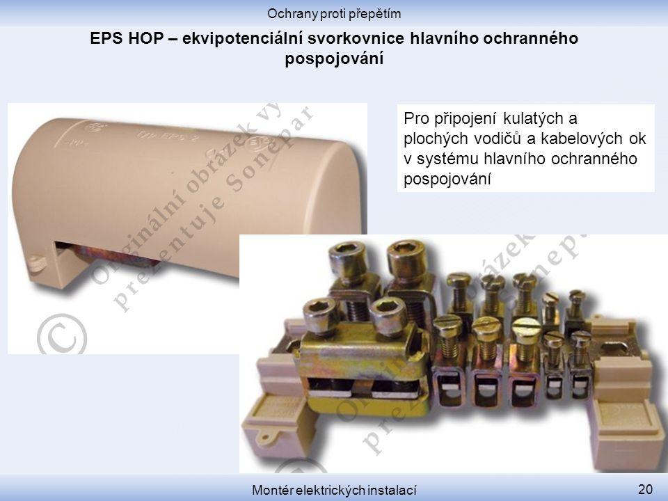 EPS HOP – ekvipotenciální svorkovnice hlavního ochranného pospojování