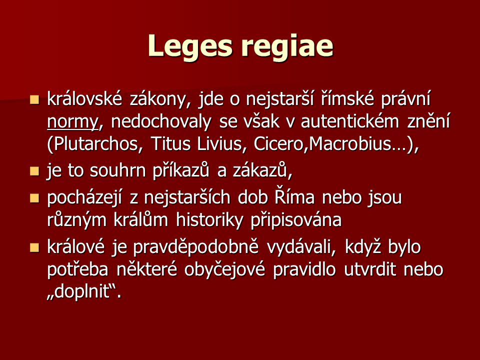 Leges regiae