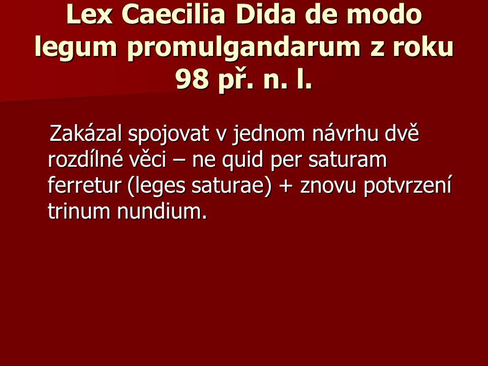 Lex Caecilia Dida de modo legum promulgandarum z roku 98 př. n. l.