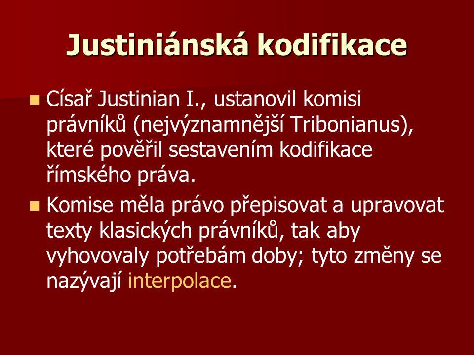 Justiniánská kodifikace