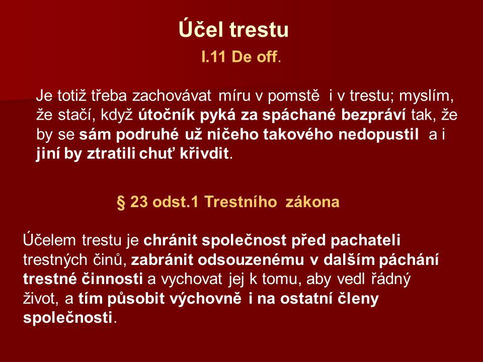 § 23 odst.1 Trestního zákona