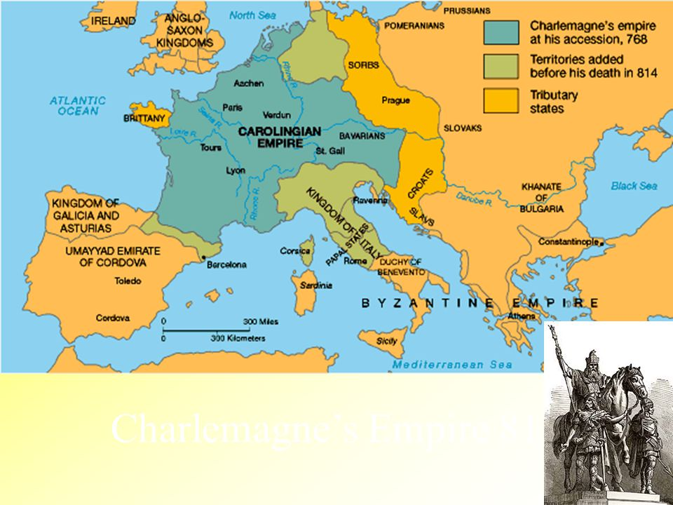 Charlemagne's Empire 814