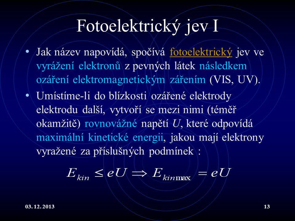 Fotoelektrický jev I