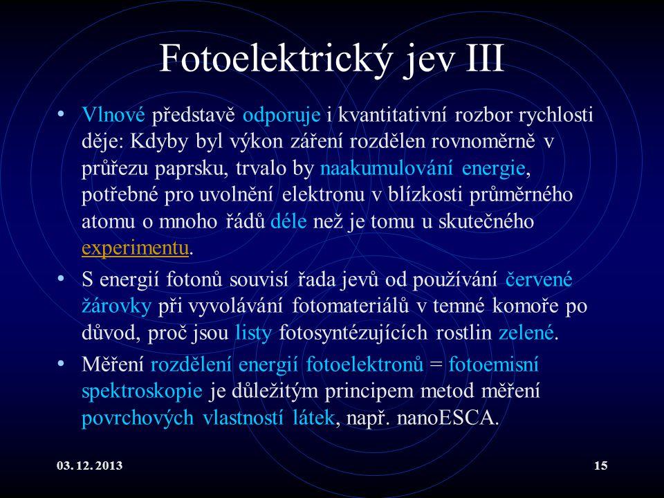 Fotoelektrický jev III