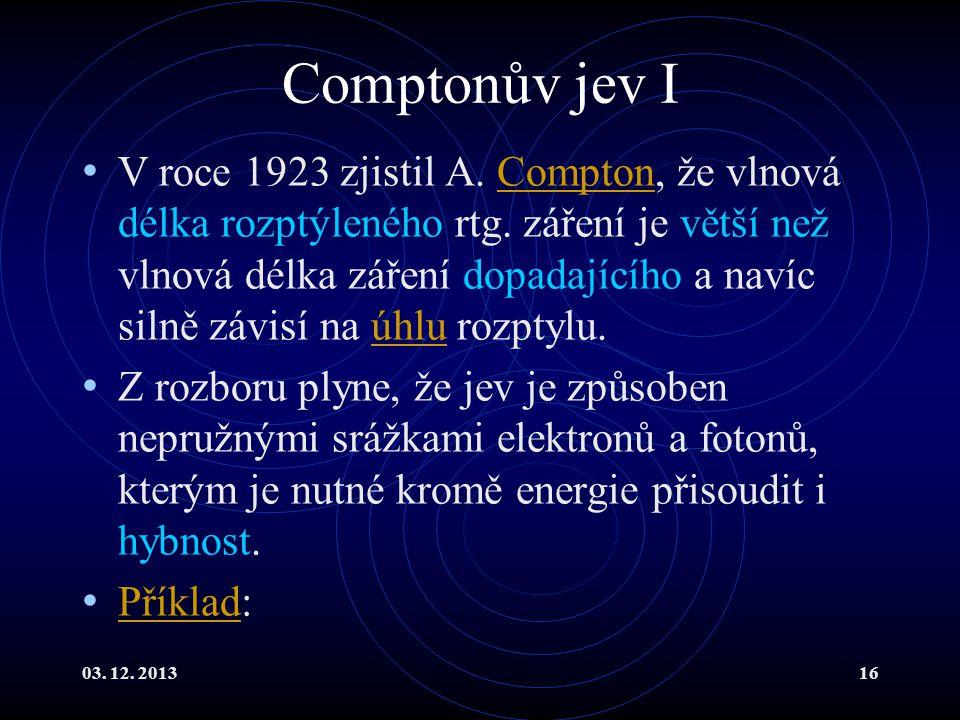 Comptonův jev I
