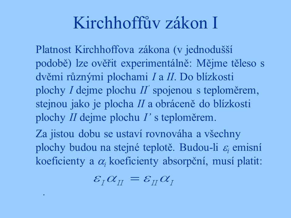 Kirchhoffův zákon I