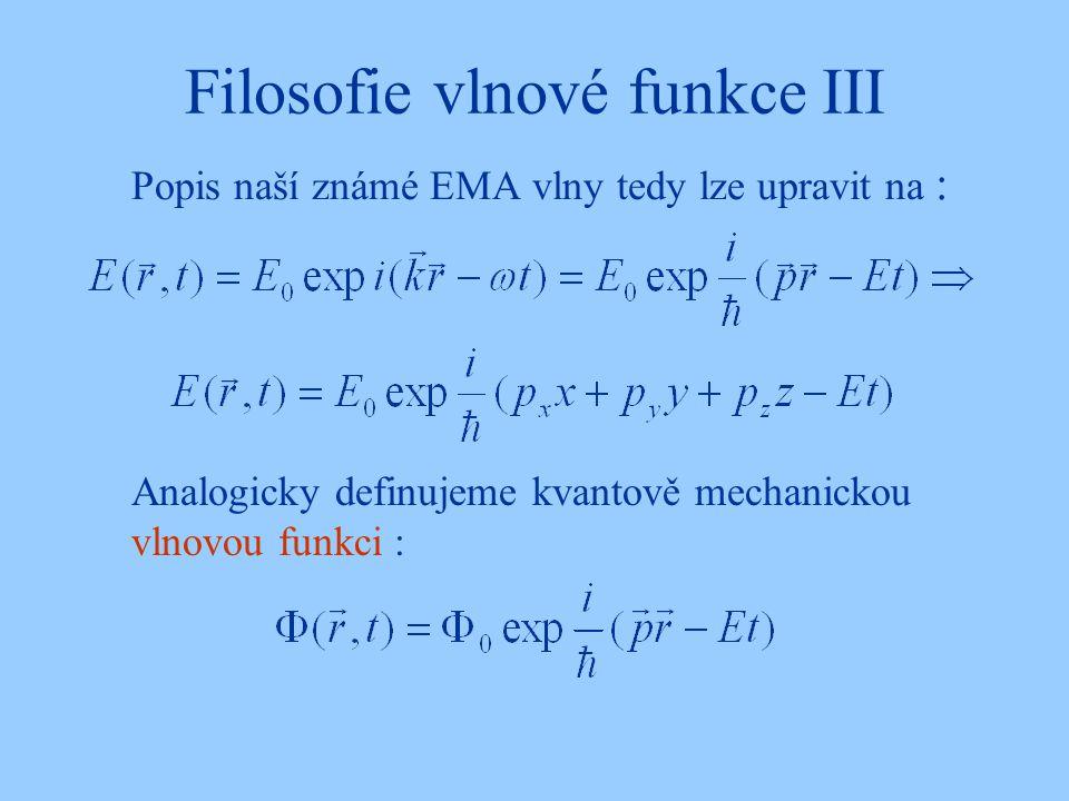 Filosofie vlnové funkce III