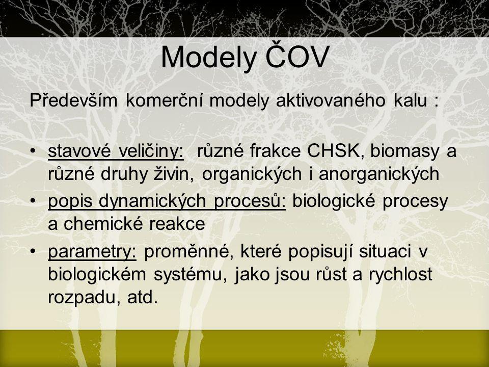 Modely ČOV Především komerční modely aktivovaného kalu :