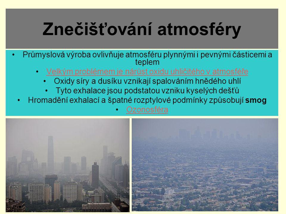 Znečišťování atmosféry