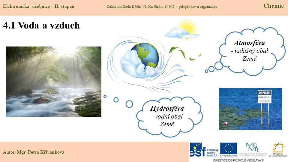 4.1 Voda a vzduch Atmosféra Hydrosféra - vzdušný obal Země