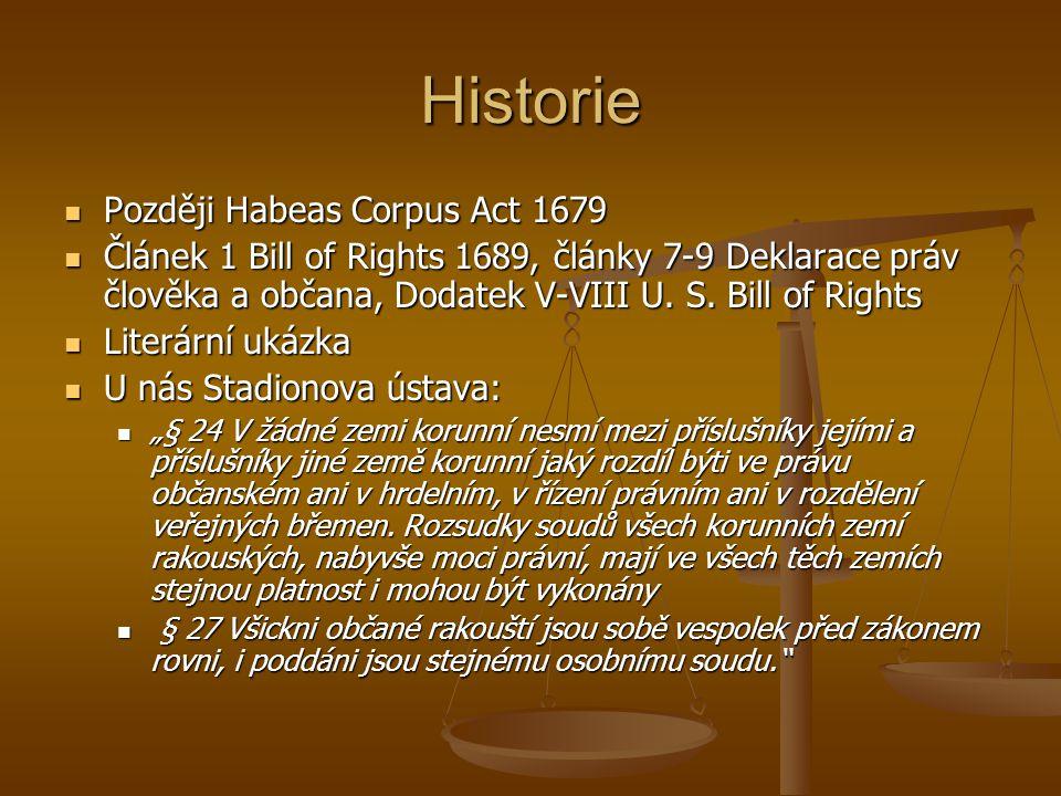 Historie Později Habeas Corpus Act 1679