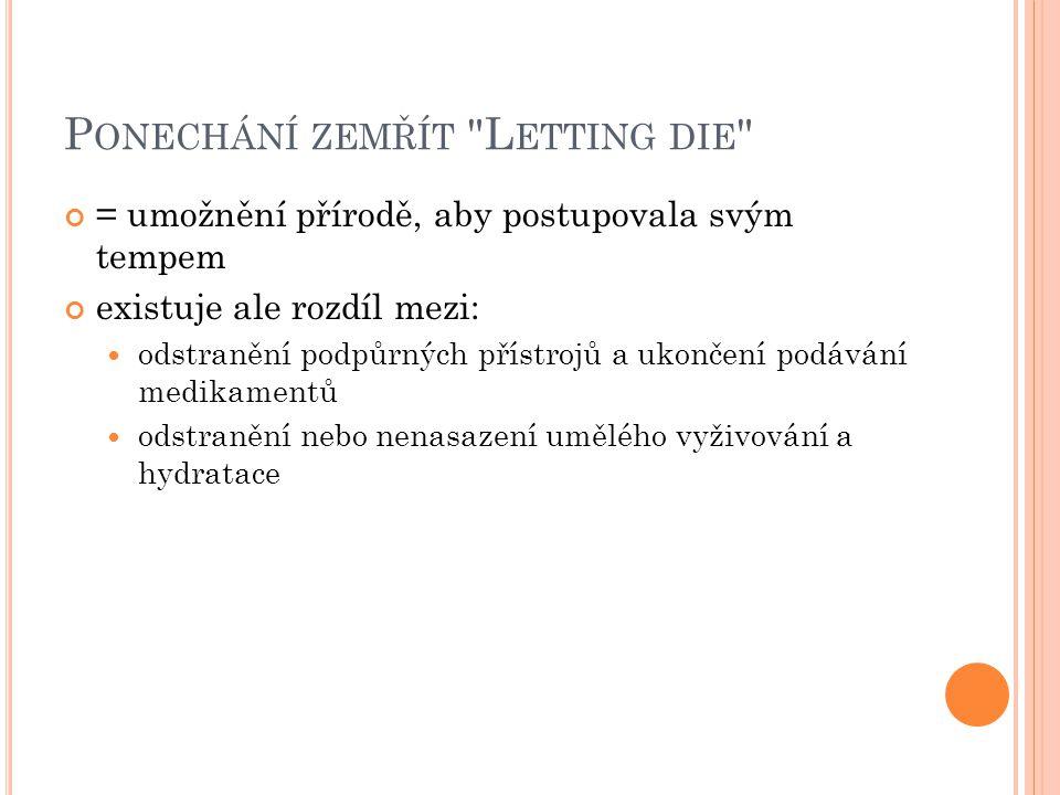 Ponechání zemřít Letting die