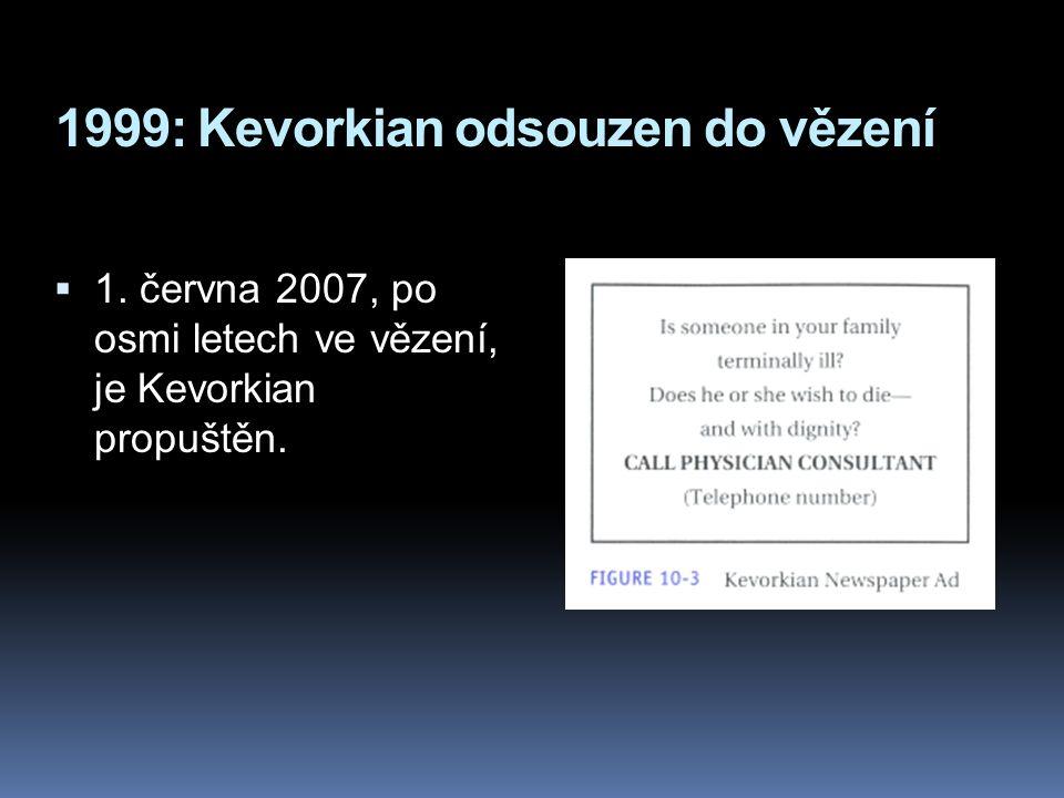 1999: Kevorkian odsouzen do vězení