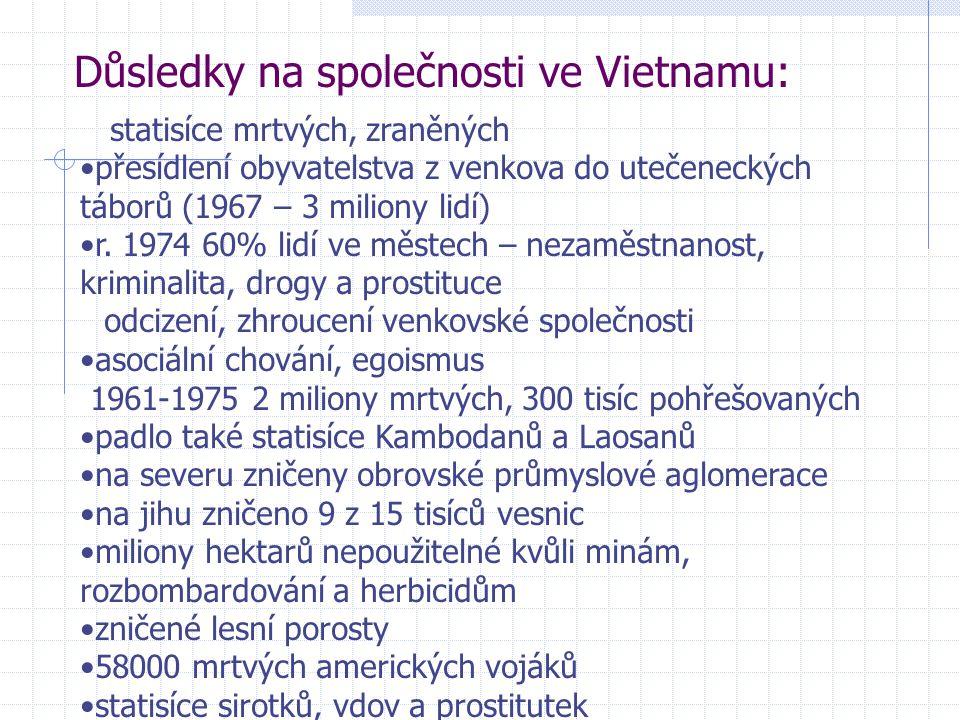 Důsledky na společnosti ve Vietnamu: