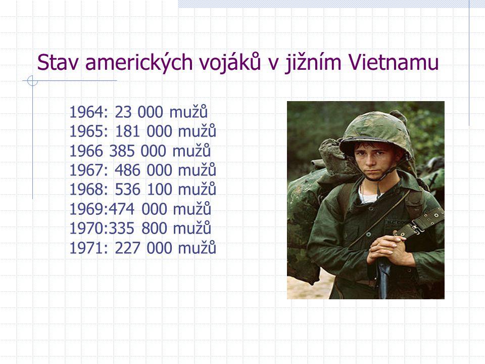 Stav amerických vojáků v jižním Vietnamu
