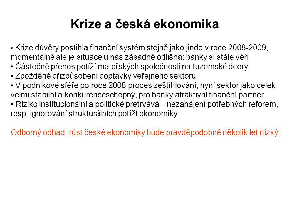 Krize a česká ekonomika