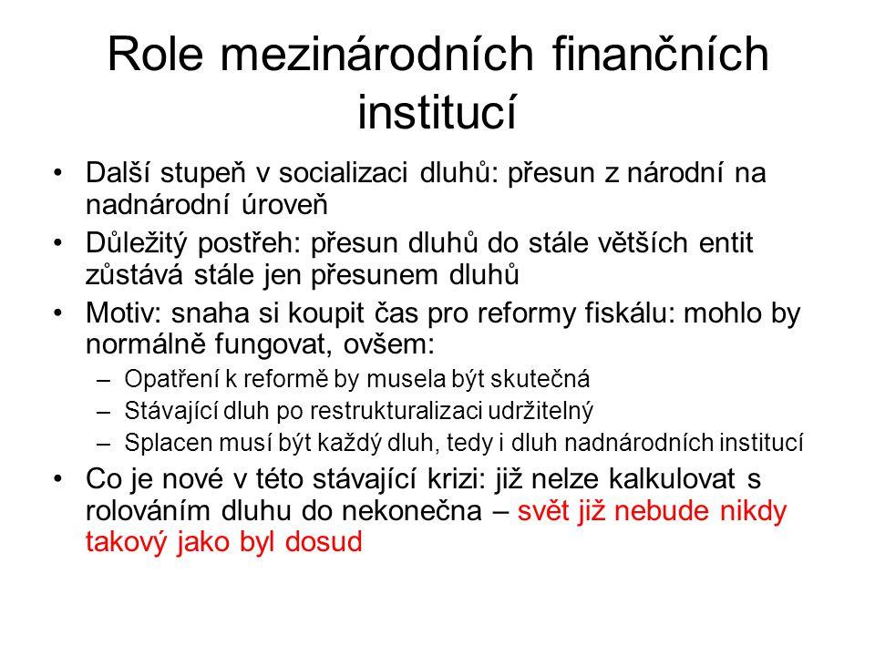 Role mezinárodních finančních institucí