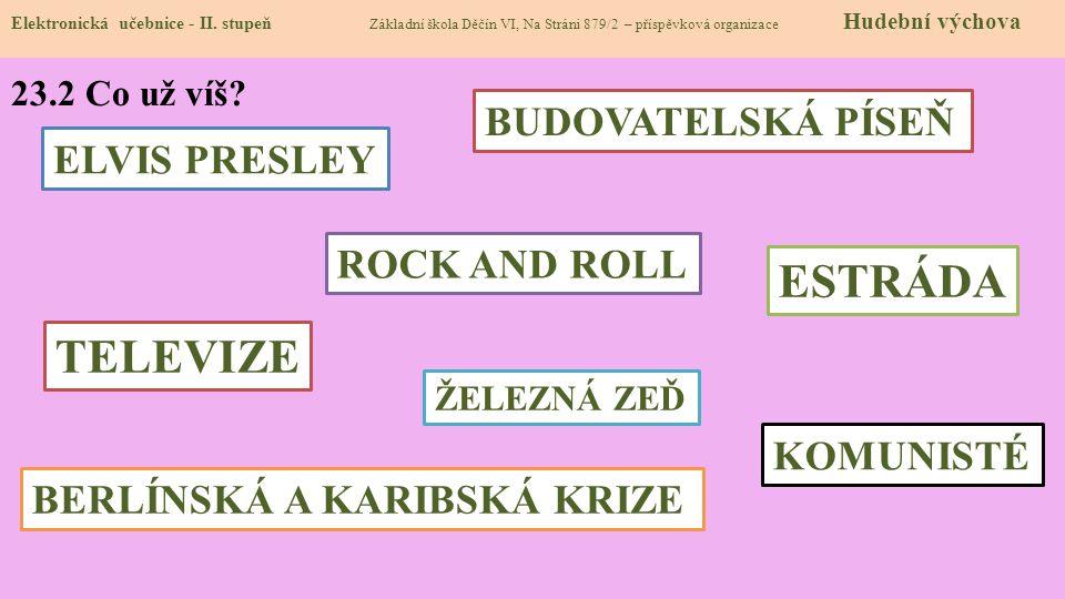 ESTRÁDA TELEVIZE BUDOVATELSKÁ PÍSEŇ ELVIS PRESLEY ROCK AND ROLL
