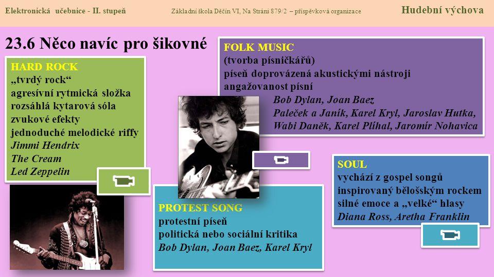 23.6 Něco navíc pro šikovné FOLK MUSIC (tvorba písničkářů)