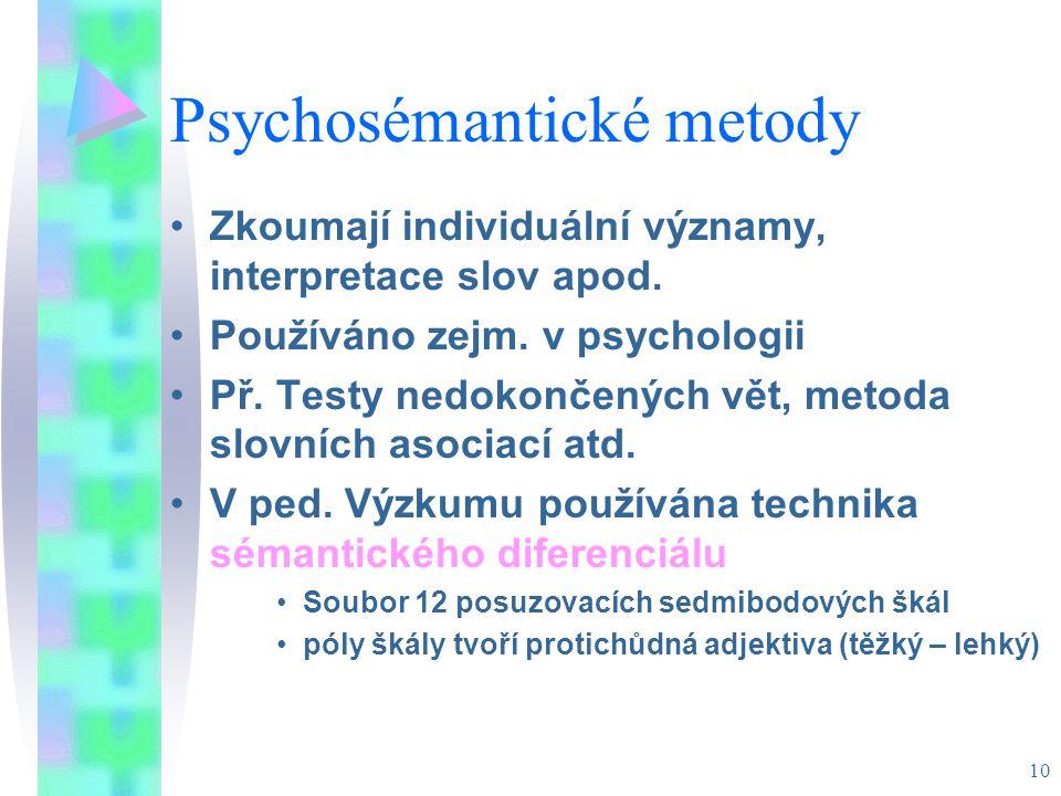 Psychosémantické metody