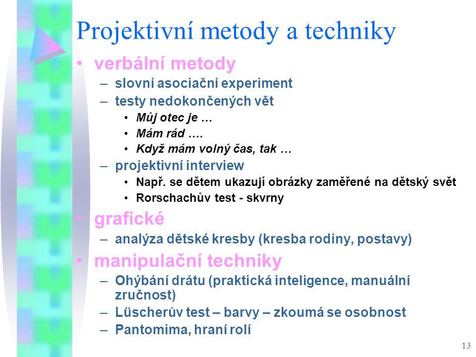 Projektivní metody a techniky