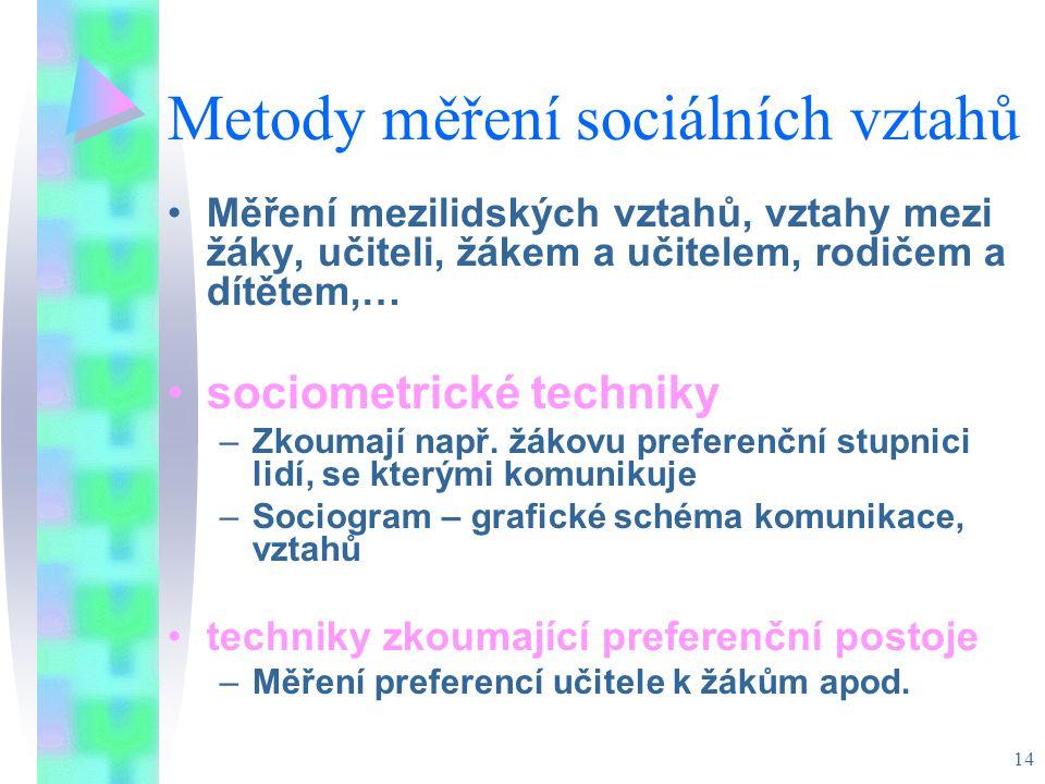 Metody měření sociálních vztahů