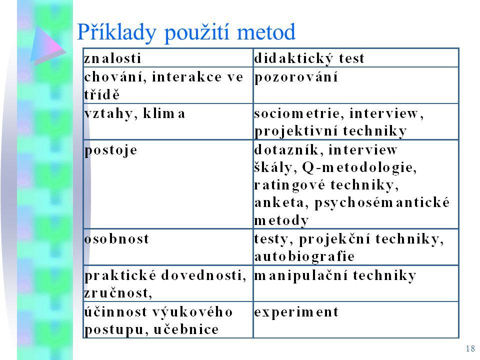 Příklady použití metod
