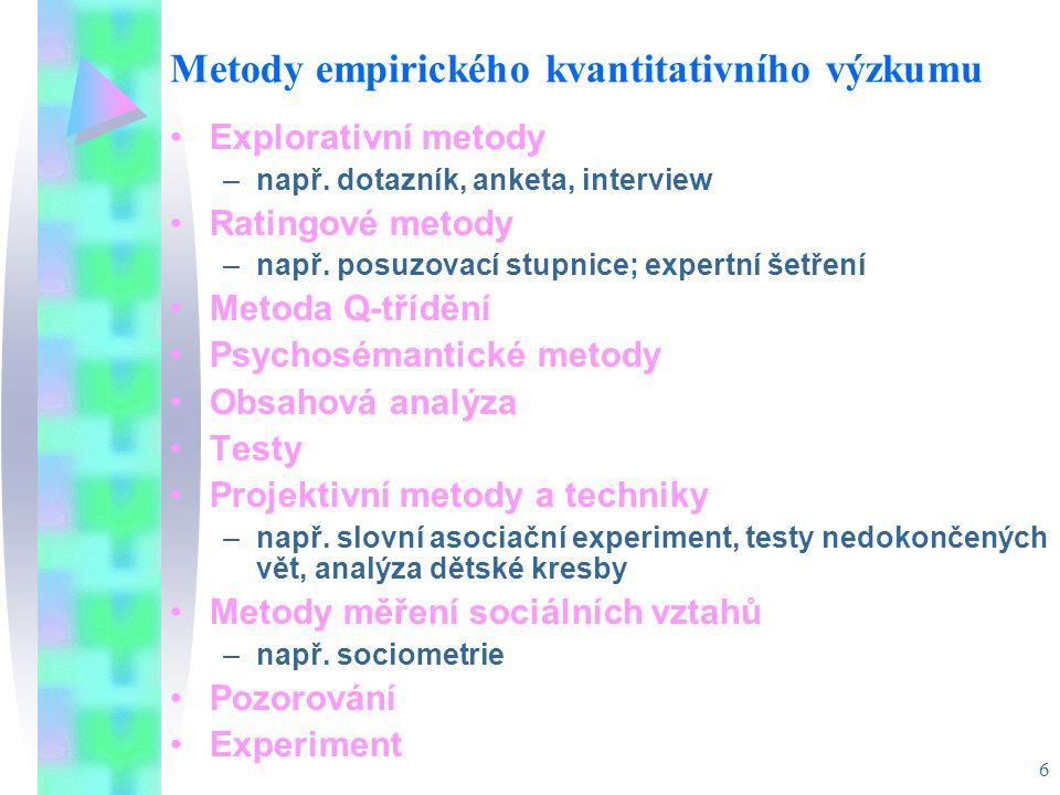 Metody empirického kvantitativního výzkumu