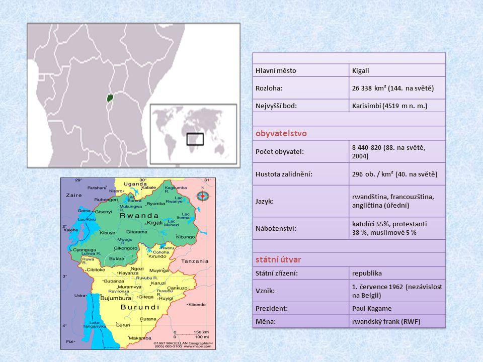 obyvatelstvo státní útvar Hlavní město Kigali Rozloha: