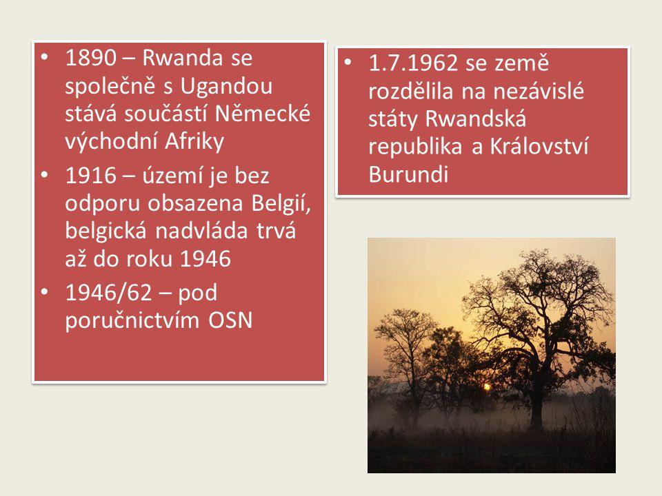 1890 – Rwanda se společně s Ugandou stává součástí Německé východní Afriky
