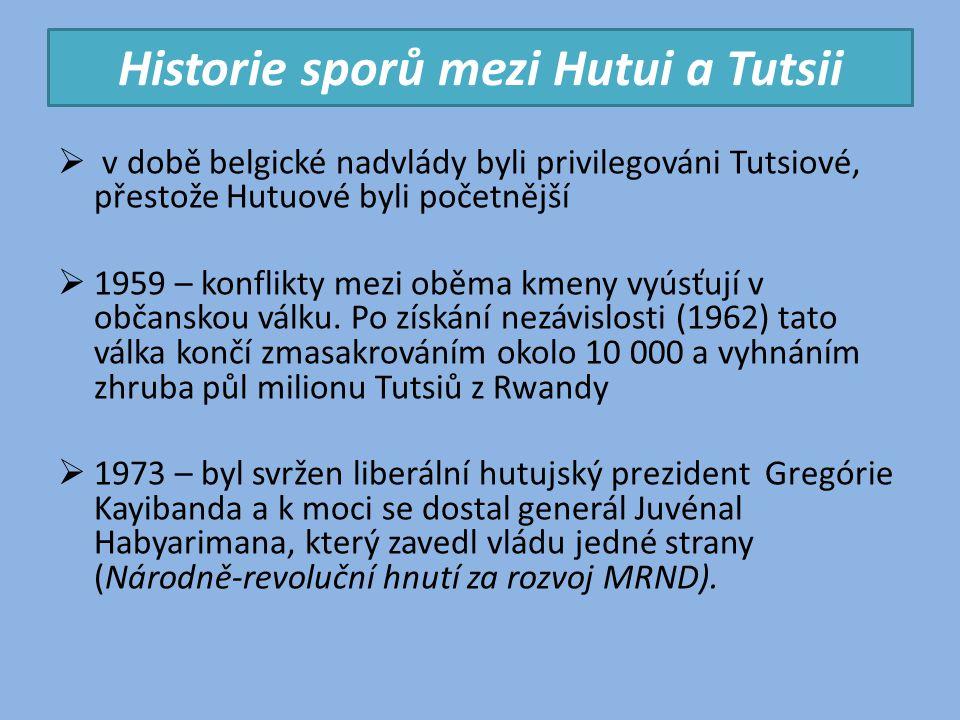 Historie sporů mezi Hutui a Tutsii