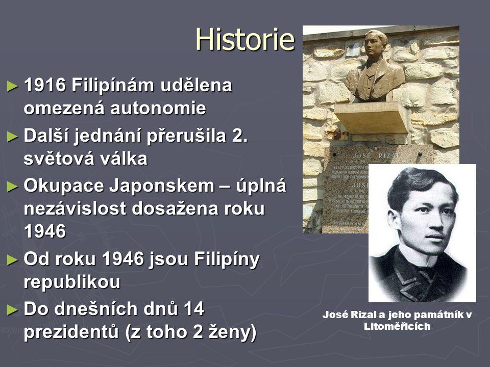 José Rizal a jeho památník v Litoměřicích